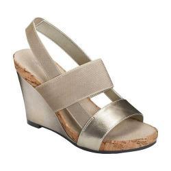 Women's Aerosoles Magnolia Plush Slingback Sandal Silver Faux Leather/Elastic