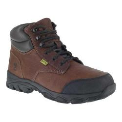 Men's Iron Age Galvanizer 6in Steel Toe Work Boot Brown Full Grain Leather