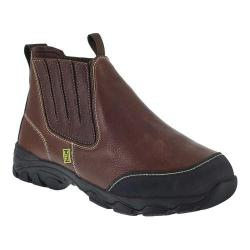 Men's Iron Age Galvanizer Chelsea Steel Toe Work Boot Brown Full Grain Leather/Kevlar