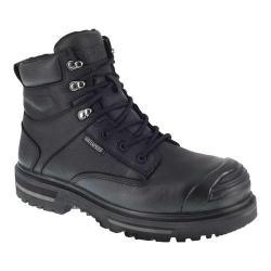 Men's Iron Age Troweler 6in Waterproof Composite Toe Work Boot Black Full Grain Leather