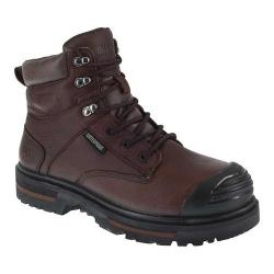 Men's Iron Age Troweler 6in Waterproof Composite Toe Work Boot Brown Full Grain Leather