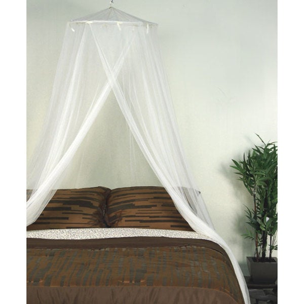 Ivory Cream Mosquito Net Canopy - Free Shipping On Orders Over $45 ...