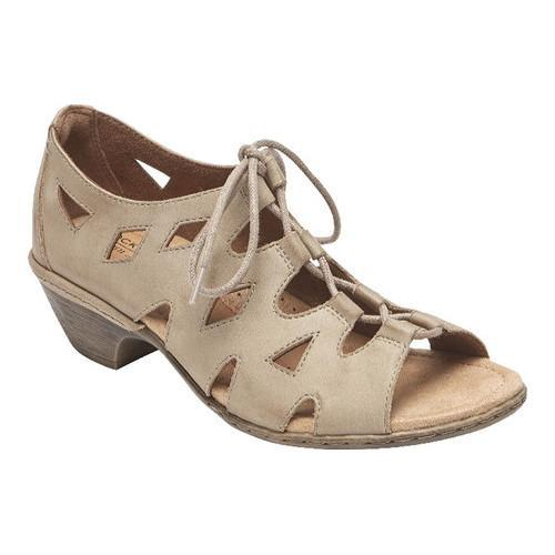 c8dbc8811cf Shop Women s Rockport Cobb Hill Verona Lace Up Cage Sandal Khaki Nubuck -  On Sale - Free Shipping Today - Overstock - 20268942