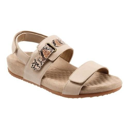 Women's SoftWalk Bimmer Ankle Strap Sandal Sand Soft Leather