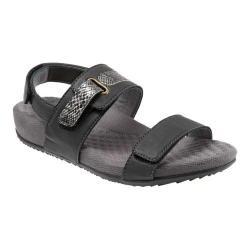 Women's SoftWalk Bimmer Ankle Strap Sandal Black Soft Leather