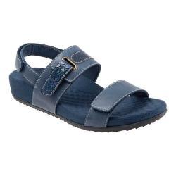 Women's SoftWalk Bimmer Ankle Strap Sandal Navy Soft Leather