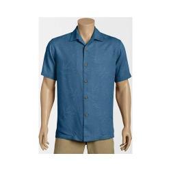 Men's Tommy Bahama Luau Floral Short Sleeve Button Down Shirt Dockside Blue