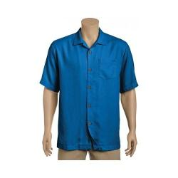 Men's Tommy Bahama Royal Bermuda Short Sleeve Silk Shirt Cobalt Sea