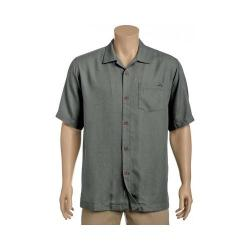 Men's Tommy Bahama Royal Bermuda Short Sleeve Silk Shirt Shadow