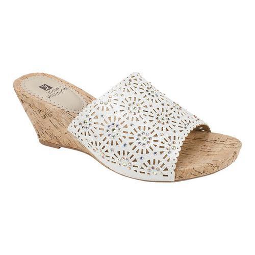 White Mountain Adira Wedge Slide Sandal (Women's) 68HIk9b7U