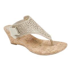 Women's White Mountain Alise Thong Sandal Gold Metallic
