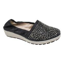 Women's White Mountain Lewis Slip-On Shoe Black Metallic