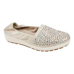 Women's White Mountain Lewis Slip-On Shoe Gold Metallic