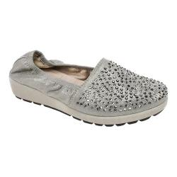 Women's White Mountain Lewis Slip-On Shoe Gunmetal Metallic
