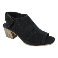Women's White Mountain Lorna Sandal Black Suede