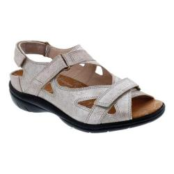 Women's Drew Lagoon Hook and Loop Sandal Champagne Dusty Leather