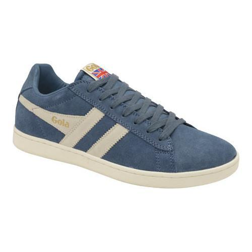 Mens Equipe Suede Baltic/Off White Trainers Gola EARJN