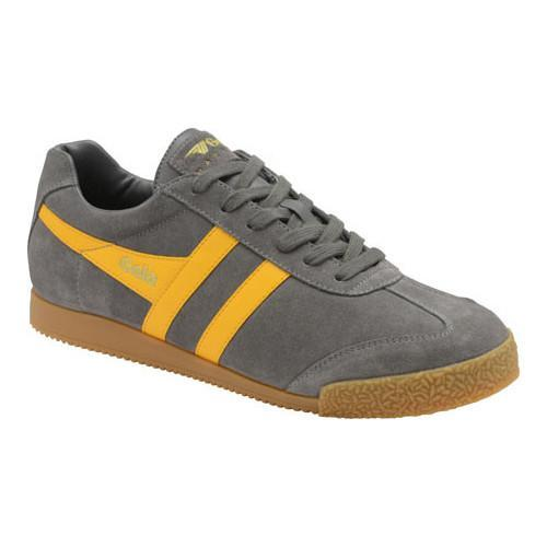 907a7f035739 Shop Men s Gola Harrier Suede Sneaker Ash Sun Suede - Free Shipping Today -  Overstock - 20296884