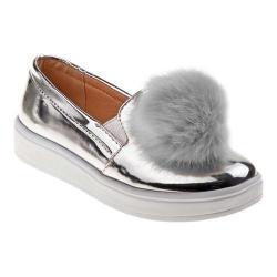 Girls' Kensie Girl KG80084 Pom Pom Sneaker Silver