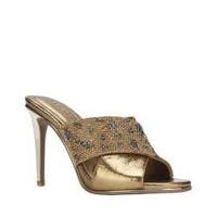 Women's Kenneth Cole Reaction Look Beyond Heeled Sandal Medal Gold Metallic
