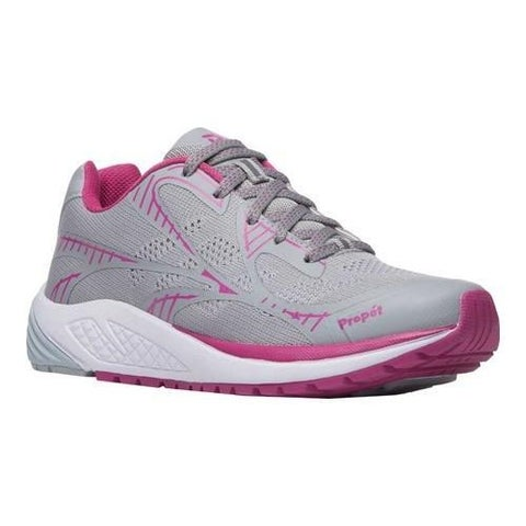 Women's Propet One Lightweight Sneaker Grey/Berry Mesh