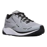 Men's Propet One Lightweight Sneaker Silver/Black Mesh