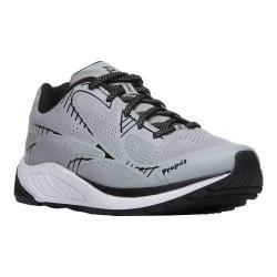 Men's Propet One Lightweight Sneaker Silver/Black Mesh