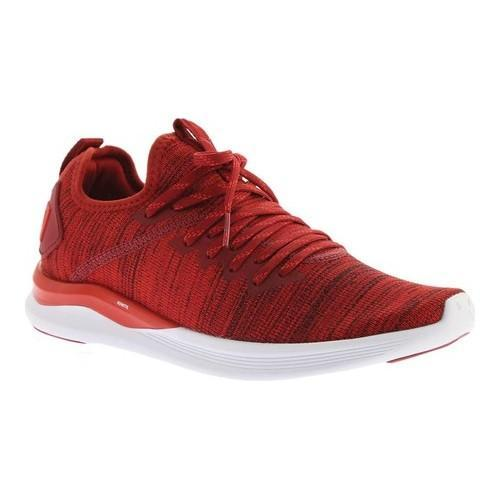Shop Men s PUMA IGNITE Flash evoKNIT Sneaker Red Dahlia High Risk Red PUMA  White - Free Shipping Today - Overstock - 20254449 42328f2d1807