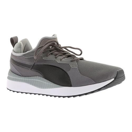 bafb003ce7a298 Shop Men s PUMA Pacer Next Sneaker Smoked Pearl PUMA Black - Free Shipping  On Orders Over  45 - Overstock - 20254463