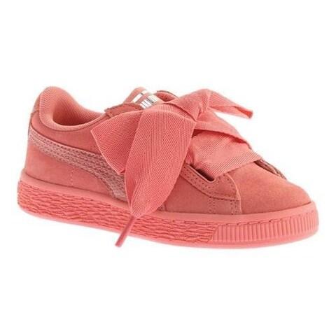 Girls' PUMA Suede Heart PS Sneaker Shell Pink/Shell Pink