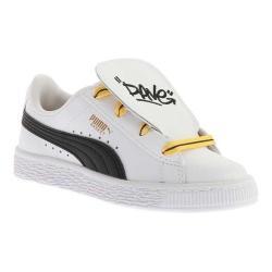 Children's PUMA Minions Basket Tongue PS Sneaker PUMA White/PUMA Black/Minion Yellow