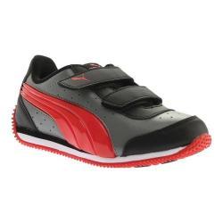 Boys' PUMA Puma Speed Lightup Power V PS Sneaker Castor Gray/Flame Scarlet