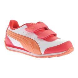 Boys' PUMA Puma Speed Lightup Power V PS Sneaker Puma White/Melon