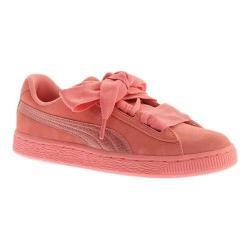 Girls' PUMA Suede Heart Jr. Sneaker Shell Pink/Shell Pink