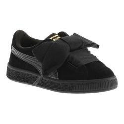 Girls' PUMA Suede Heart PS Sneaker Puma Black/Puma Black