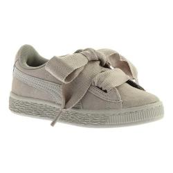 Girls' PUMA Suede Heart PS Sneaker Rock Ridge/Rock Ridge
