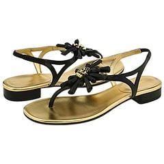 Kate Spade Freda Black Nappa Sandals
