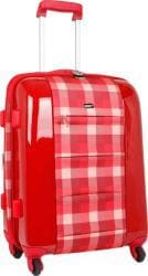 J World Red Plaid 'Laurel' 21-inch Expandable Hardside Carry-on Upright - Thumbnail 1