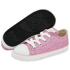 0fa775c2e5e Converse Kids All Star Sparkle Ox (Infant/Toddler) Pink Athletic