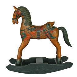Handmade Wild West Decorative Wood Rocking Horse (Thailand)