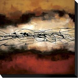 Laurie Maitland 'Harmony in Red and Ochre' Canvas Giclee Art - Thumbnail 1