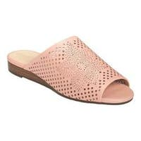 Women's Aerosoles Bitmap Slide Light Pink Perforated Leather