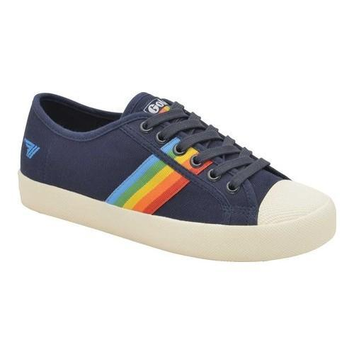 d13b7789e5 Women's Gola Coaster Rainbow Sneaker Navy/Multi Canvas