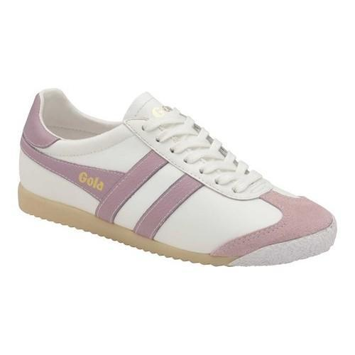 862e279e4098 Shop Women s Gola Harrier 50 Leather Trainer White Pastel Pink Leather -  Free Shipping Today - Overstock - 20353025