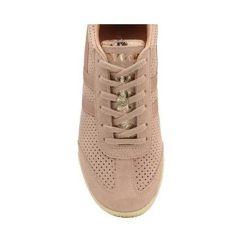 649b0684ddc2 ... Thumbnail Women  x27 s Gola Harrier Glimmer Suede Trainer Blush Pink Rose  Gold ...