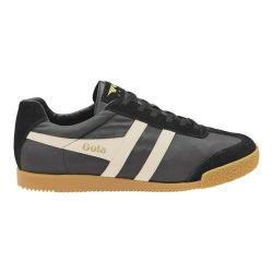 Men's Gola Harrier Trainer Black/Off White Nylon