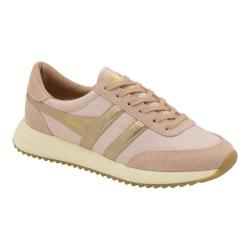 Women's Gola Montreal Mirror Trainer Blush Pink/Gold/Off White Nylon
