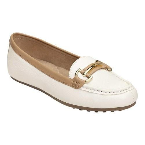 6aa5c463c57 Shop Women s Aerosoles Drive Along Loafer Bone Combo Leather - Free  Shipping On Orders Over  45 - Overstock - 20340690