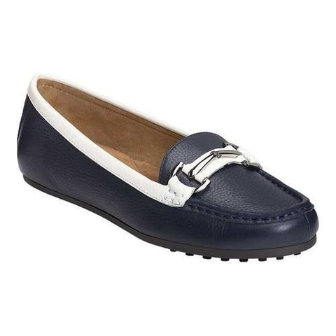 Women's Aerosoles Drive Along Loafer Navy Combo Leather