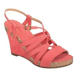 Women's A2 by Aerosoles Poppy Plush Strappy Sandal Coral Faux Suede (More options available)